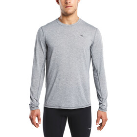 saucony Freedom Long Sleeved Men Dark Grey Heather